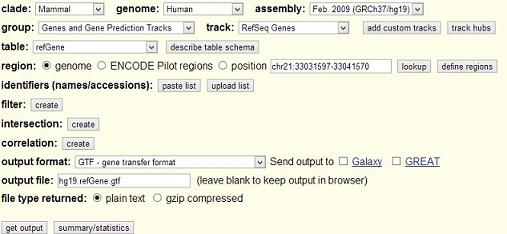 Gene annotation file in GTF format